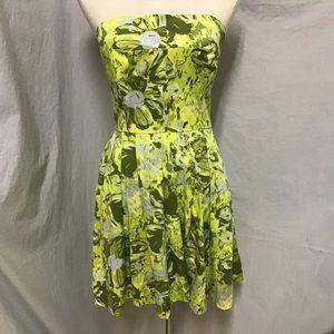 Fabulous Chartreuse Strapless Dress